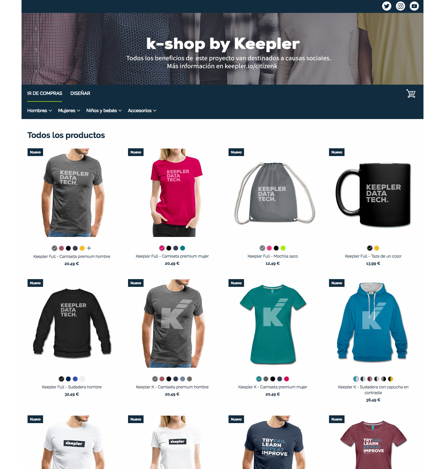 tienda online empresa Spreadshirt